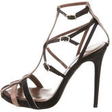 Tabitha Simmons Satin Cage Sandals
