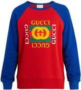 Gucci Logo-print cotton-jersey sweatshirt