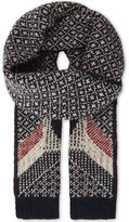 Thom Browne Penguin wool-blend knitted scarf