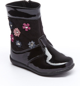 Laura Ashley Black Patent Floral Boot