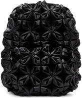 Noir Kei Ninomiya Black Folded and Gathered Backpack
