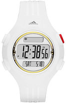 adidas Questra White and Gold Small Polyurethane Watch