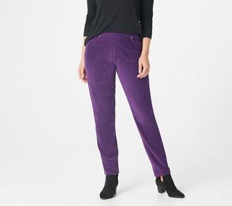 Factory Quacker Regular Knit Corduroy Pull-On Slim Leg Pant