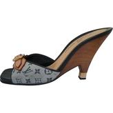 Louis Vuitton Blue Mules Clogs