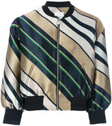 Carven jacquard stripe bomber jacket - women - Polyamide/Polyester/Acetate/Viscose - 38