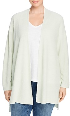 Eileen Fisher, Plus Size Open-Front Long Cardigan
