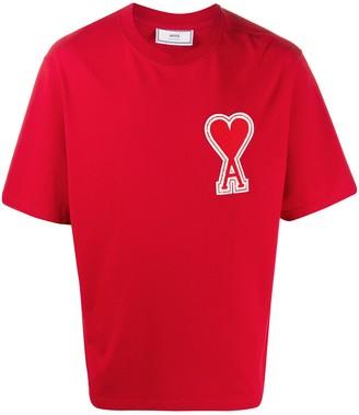 AMI Paris oversize Ami de Cur patch T-shirt