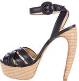 Walter Steiger Leather Curved Heel Sandals