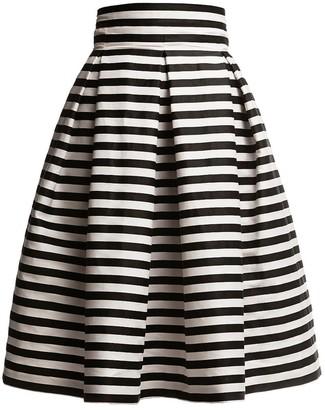 Amalfi Striped Midi Skirt Black & White