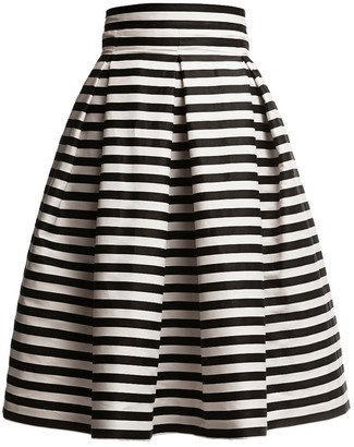 Rumour London Amalfi Striped Midi Skirt Black & White