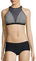 Nike Striped Mesh Inset Bikini Top
