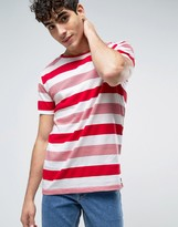 Dr. Denim Patrick T-Shirt Red Sundry Stripe
