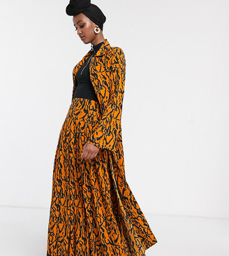 Verona full maxi skirt in abstract print