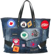 DSQUARED2 patch shopper bag - women - Cotton/Leather - One Size