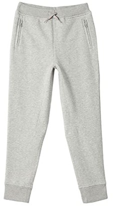 crewcuts by J.Crew Slim Fit Zip Pocket Sweatpants (Toddler/Little Kids/Big Kids) (Heather Grey) Boy's Clothing