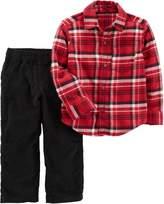 Carter's Baby Boys Plaid Print Pants Set