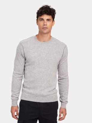 Naadam Contrast Seam Crewneck Pullover Sweater