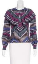 Alexis Mabille Victorian Stripe Blouse w/ Tags