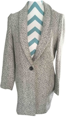 Suncoo Ecru Wool Coat for Women