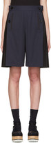 Sacai Navy Twill Pleated Short