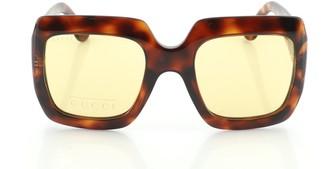 Gucci Square Sunglasses Tortoise Acetate