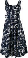 Samantha Sung printed belt dress - women - Cotton/Spandex/Elastane - 4