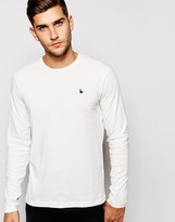 Jack Wills Rosewood T-shirt With Long Sleeves In White