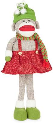 Glucksteinhome Pop Goes The Holiday Girl Sock Monkey