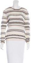 Maje Pointelle Striped Sweater