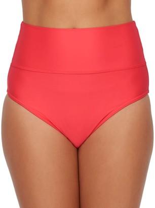 Sunsets Nectarine Fold-Over High-Waist Bikini Bottom