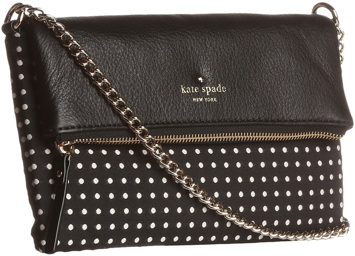 Kate Spade Cobble Hill Dot Aleah (Black/Cream) - Bags and Luggage