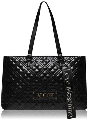 Love Moschino Quilted Logo Shopper