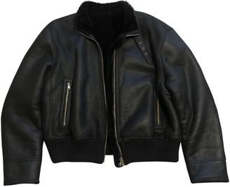 Cerruti Black Shearling Jackets