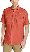 G.H. Bass Men's Short Sleeve Explorer Solid Fishing Shirt