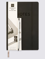 Marks and Spencer Note Pad & Stylus Pen Set