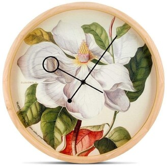 Apt2B Botanical Wall Clock by Cloudnola MAGNOLIA