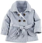 Carter's Baby Girl Hickory Stripe Jacket