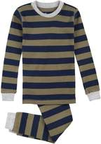 Petit Lem Big Boys' Forest Stripe 2 Piece Pajama Set