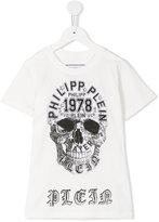 Philipp Plein skull print T-shirt - kids - Cotton - 6 yrs
