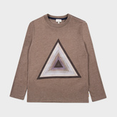 Paul Smith Boys' 7+ Years Brown Triangle Print 'Matheo' Top