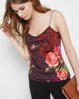 KLISHA Juxtapose Rose cami top