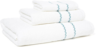 Hamburg House 3-Pc Double Scallop Towel Set - Teal