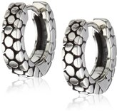 Zina Sterling Silver Stingray-Texture Hoop Earrings