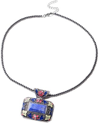Shop Lc Lapis Lazuli Hematite Beads Stainless Steel Necklace 18 inch - Size 18''