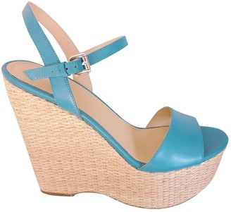 Michael Kors Turquoise Leather Sandals