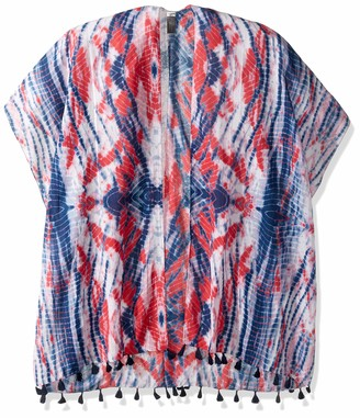 D&Y Women's David and Young Americana Tye die Shawl with Tassels