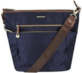 Travelon Anti-Theft RFID Bucket Bag with Leather Trim