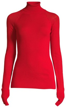 Escada Sport Rita Ora Capsule Virgin Wool Turtleneck Sweater