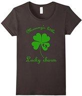 Women's Maternity T-Shirt Mommy's Little Lucky Charm Medium