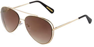 BCBGMAXAZRIA Vented Metal Aviator Sunglasses